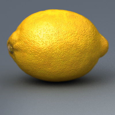 lemon 3d model - Lemon... by Pekdemir