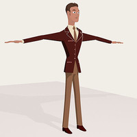 3d man cartoon