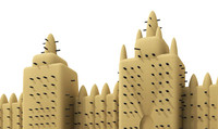 great mosque djenné 3d model
