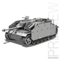 3d model sd kfz 142 stug
