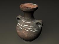 3d vase african
