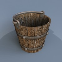 old wooden bucket 3ds