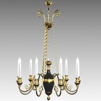 classic mariner chandelier 3d model