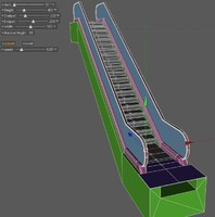 xpresso driven escalator 3d model