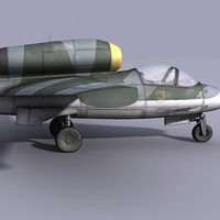 german jet fighter heinkel 3d 3ds