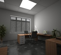 3d interior office model