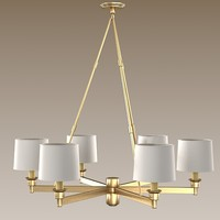 rober abbey chandelier 3d model