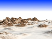 3d model snowy rocky mountain