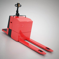 Electric warehouse pallet jack
