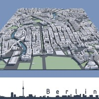3dsmax city berlin mitte
