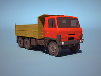 3d truck ussr low-poly model