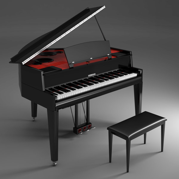 3d model electric grand piano yamaha for Yamaha piano keyboard models