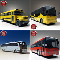 3ds max buses bus school