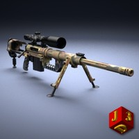 Sniper rifle CheyTac M200 Intervention with optical sight Nightforce.