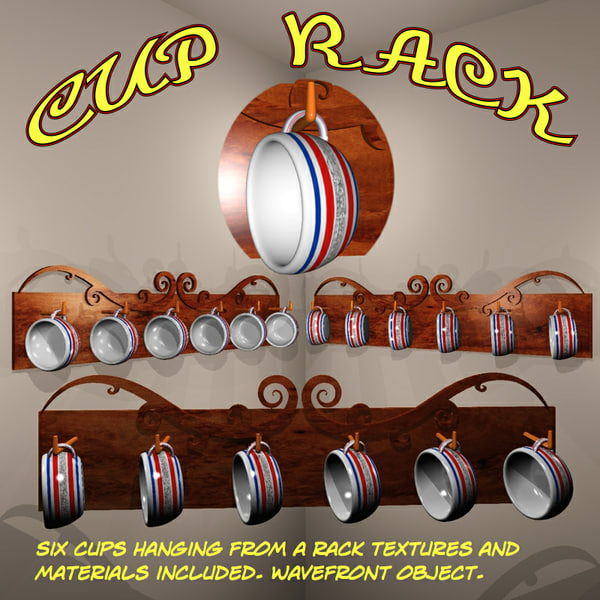cup rack 3d model - Cup Rack.obj... by uncle808us