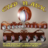cup rack 3d model