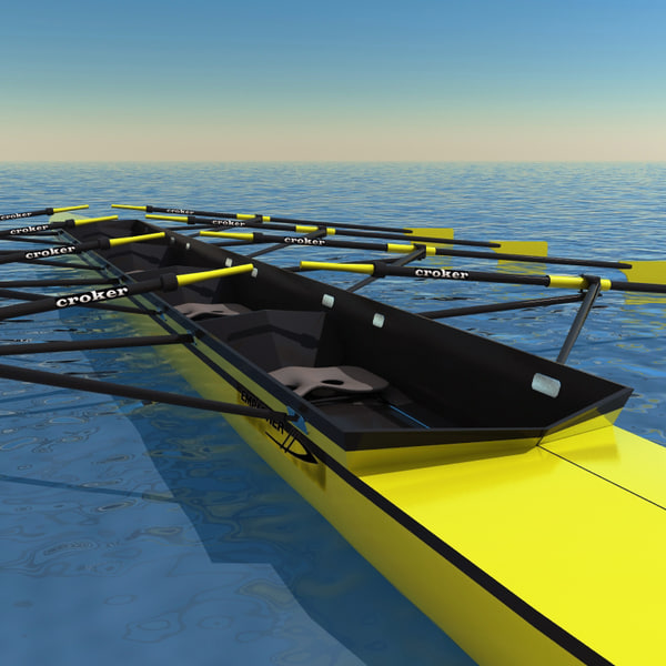 realistic rowing boat 3d model - Rowing boat... by 3d_molier
