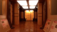 3d max sci-fi corridor interior