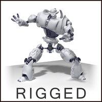 3d sony qrio robot scene