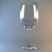 bordeaux wine glass 3d max
