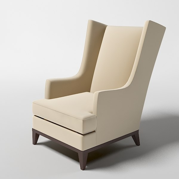 donghia heron wing chair