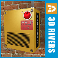 emergency box 3d model