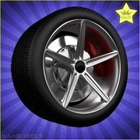 3ds max car wheel