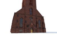 3d model church kiel gothic