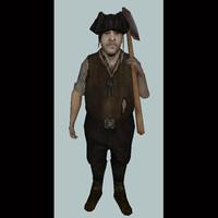 character b3d realm 3d model