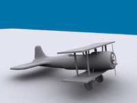 3d stearman cockpit model
