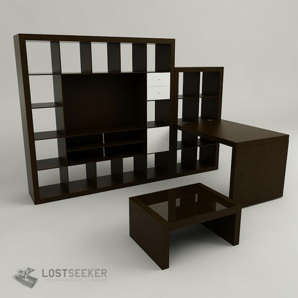 Ikea Expedit Set 3d Max