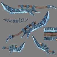 3d fantasy sword weapon 2h
