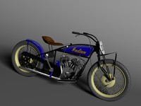 obj indian flat track racer