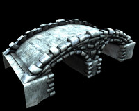 3d old stone bridge model