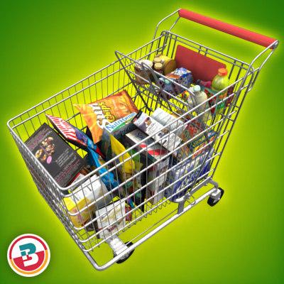 Full Grocery Shopping Cart | www.imgkid.com - The Image ...