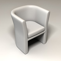 chair curved 3d model