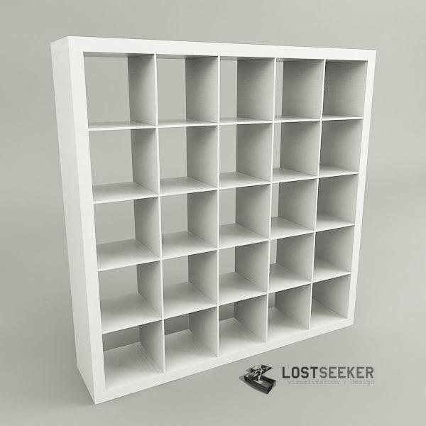 3ds max ikea expedit bookcase 5x5. Black Bedroom Furniture Sets. Home Design Ideas