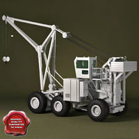 flight deck crane tilly 3d model