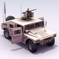 m1114 hmmwv crowsii army 3d model
