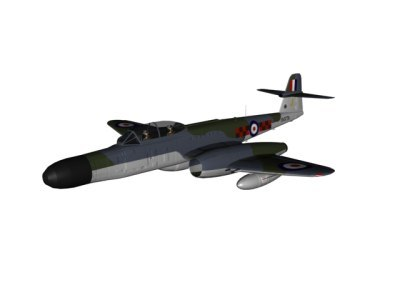 3dsmax armstrong whitworth meteor fighter - Armstrong Whitworth Meteor NF14... by pbratt