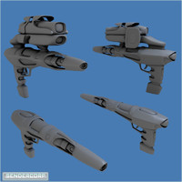 blender scifi weapon