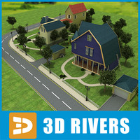 3ds max town street trees