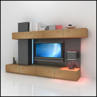 3d modern tv wall unit