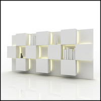 wall unit design interior 3d 3ds