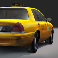 nyc taxi city 3d model
