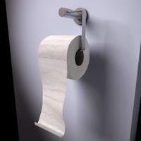 toilet paper c4d