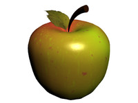 3d apple animation model