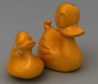 3d rigged rubber duck