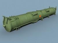 3d model canister missile
