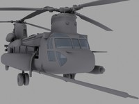 CH-47E SOA US Special Forces transport helicopter game model